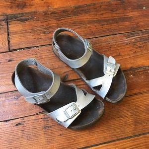 Kids silver Birkenstock sandals 2